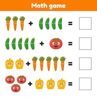 Jeu de mathématiques éducatif pour les enfants d'âge préscolaire et scolaire
