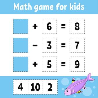 Jeu de mathématiques pour les enfants.