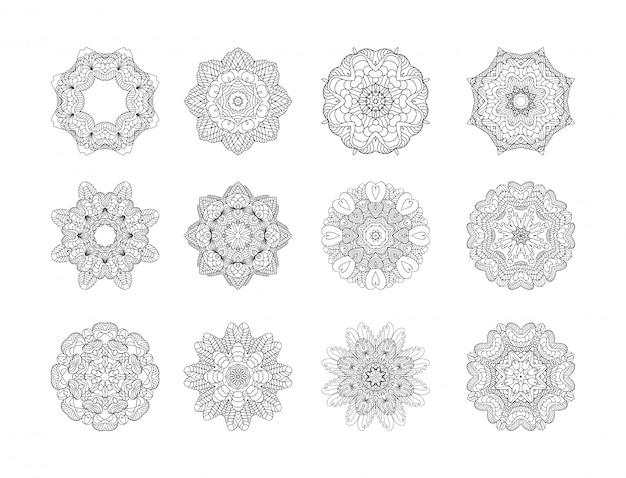 Jeu de motifs circulaires