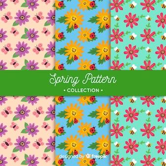 Jeu de motifs floraux de printemps