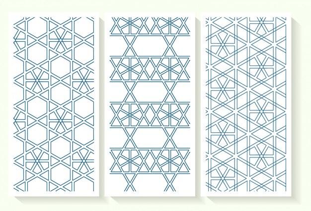 Jeu de motifs géométriques islamiques sans soudure