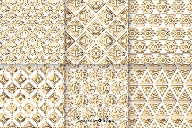 Jeu de motifs géométriques de luxe