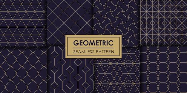 Jeu de motifs géométriques sans soudure de luxe, papier peint décoratif.