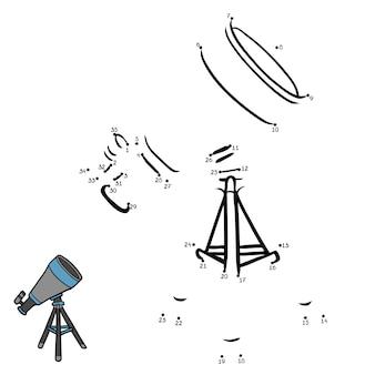 Jeu de nombres, jeu de point à point de l'éducation pour les enfants, télescope