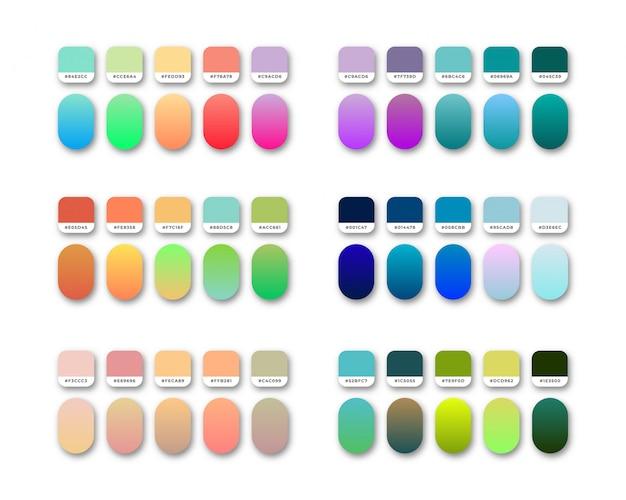 Jeu de nuances de dégradés de couleurs vives