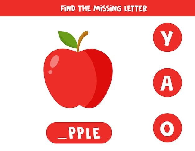 Jeu d'orthographe éducatif pour les enfants