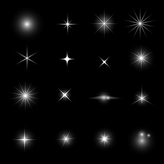 Jeu de paillettes et de brillance star light