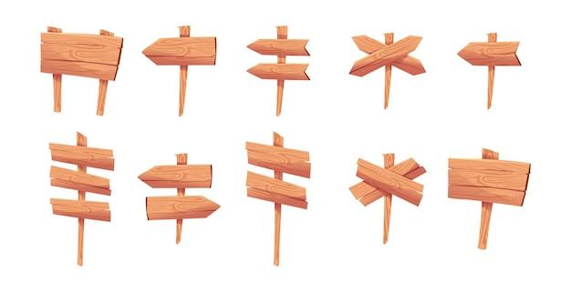 Jeu de panneaux en bois