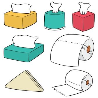 Jeu de papiers de soie vectorielles