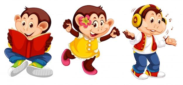 Jeu de personnage de singe