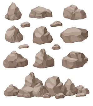Jeu de pierres de dessin animé