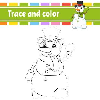 Jeu de point à point dessiner une ligne livre de coloriage thème de noël