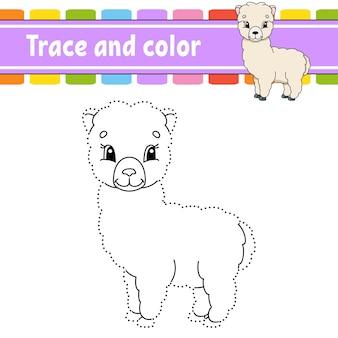 Jeu de point à point. tracer une ligne. pour les enfants. fiche d'activité. livre de coloriage.