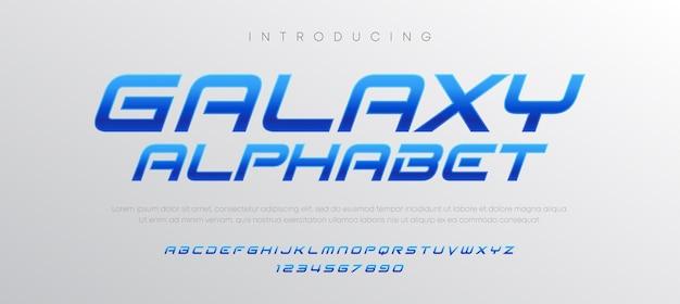 Jeu de polices alphabet italique typographie moderne abstraite