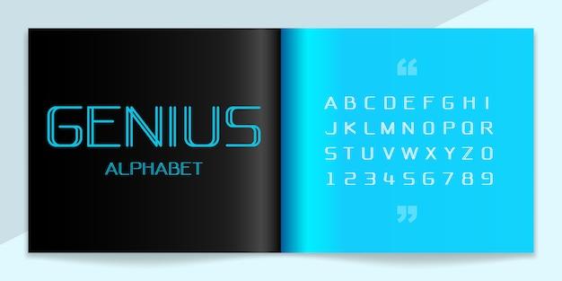 Jeu de polices et alphabet moderne.