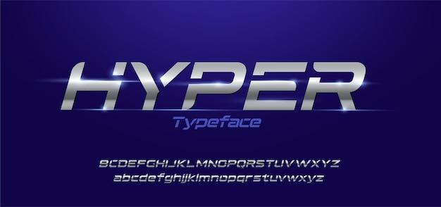 Jeu de polices alphabet typographie moderne sportive