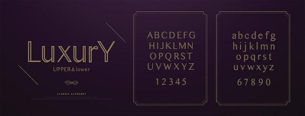 Jeu de polices de lettres alphabet luxe luxe alphabet.