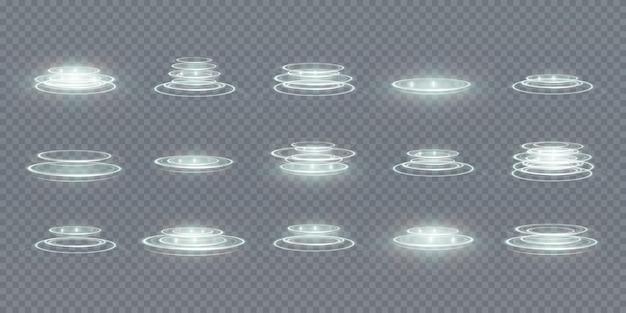 Jeu De Portail Hologramme à Effet De Lumière Vecteur Premium