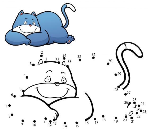 Jeu pour enfants chat point à point