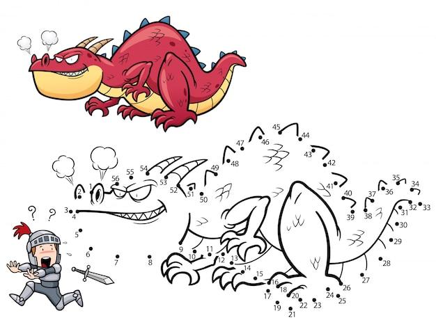 Jeu pour enfants dragon point à point