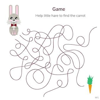 Jeu pour les enfants. labyrinthe ou labyrinthe pour les enfants.