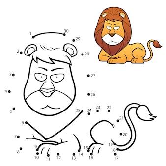 Jeu pour enfants lion point à point
