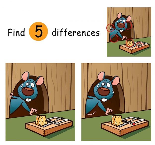 Jeu pour les enfants trouver des différences