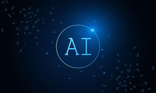 Jeu de puces ai d'intelligence artificielle sur le concept de technologie futuriste de carte de circuit