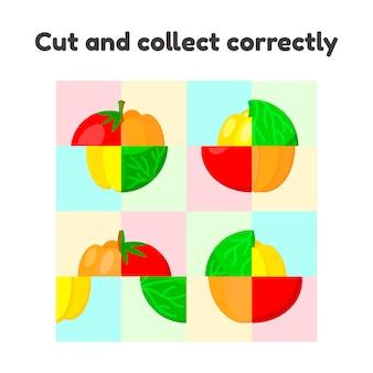 Jeu de puzzle pour enfants d'âge préscolaire et scolaire.