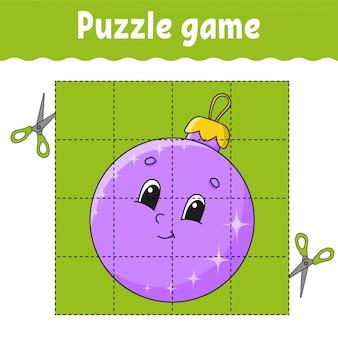 Jeu de puzzle pour les enfants. fiche de développement de l'éducation. jeu d'apprentissage pour les enfants. page d'activité. pour tout-petit.