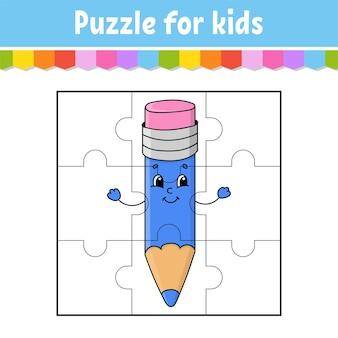 Jeu de puzzle pour les enfants. pièces de puzzle.