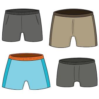 Jeu de shorts vectorielles