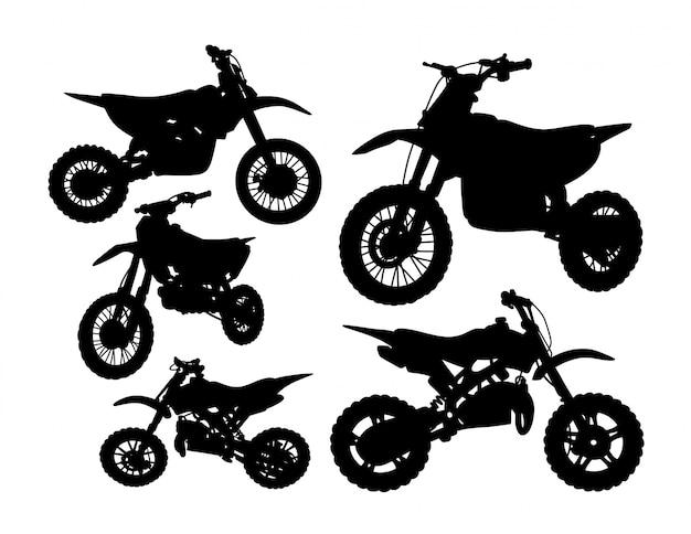 Jeu de silhouette de transport moto