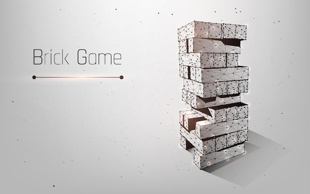Jeu de société fait de blocs de bois