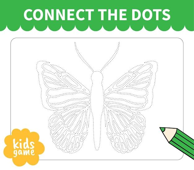 Le jeu de société pour enfants se connecte à la ligne pointillée pour les feuilles de travail des enfants d'âge préscolaire et des élèves du primaire