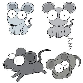 Jeu de souris vectorielles