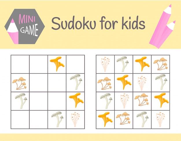 Jeu de sudoku pour les enfants avec des images et des animaux