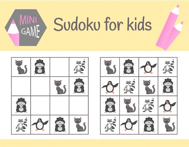 Jeu de sudoku pour les enfants