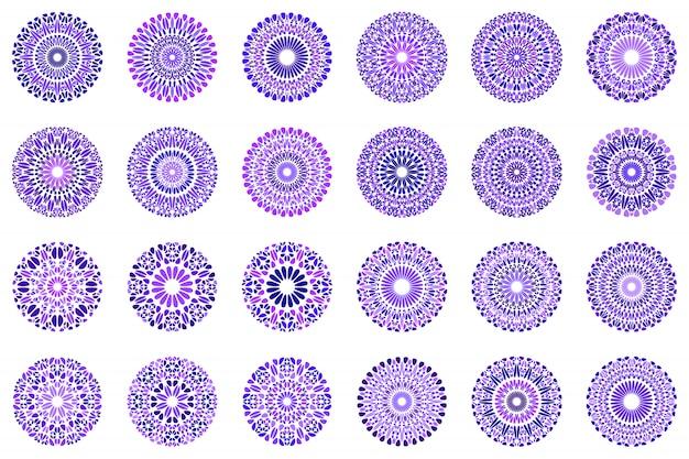 Jeu de symboles coloré abstrait mandala