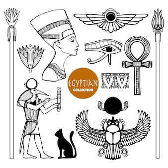 Jeu de symboles de l'egypte