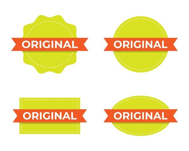 Jeu de tampons d'étiquettes d'origine.