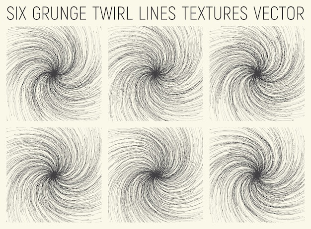 Jeu de textures lignes grunge twirl