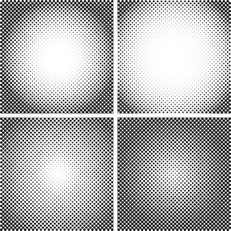 Jeu de textures de points de demi-teintes vectorielles