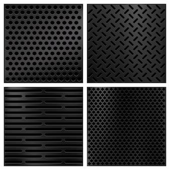 Jeu de textures vectorielles en fibre de carbone kevlar