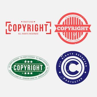 Jeu de timbres de droit d'auteur