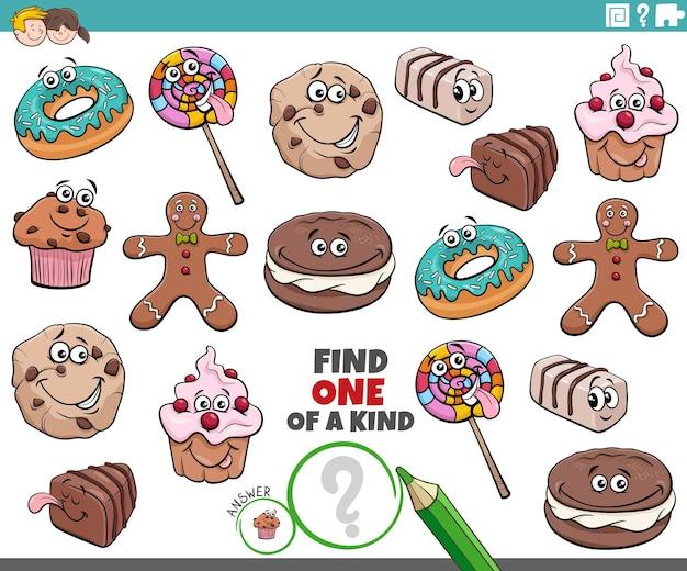 Jeu unique pour les enfants avec des bonbons de dessins animés