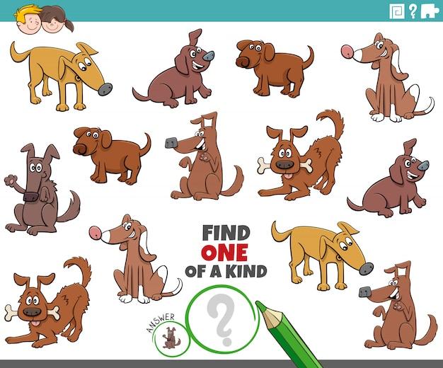 Un jeu unique pour les enfants avec des chiens et des chiots