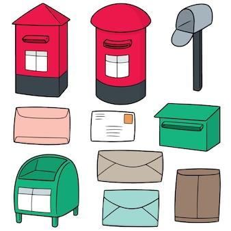 Jeu de vecteur de boîte aux lettres