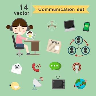 Jeu de vecteur de communication