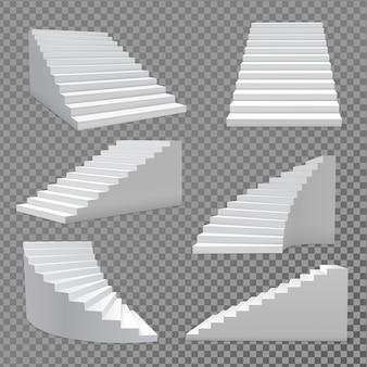 Jeu de vecteur d'escaliers